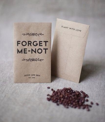 Forgetmenot seed wedding Favours