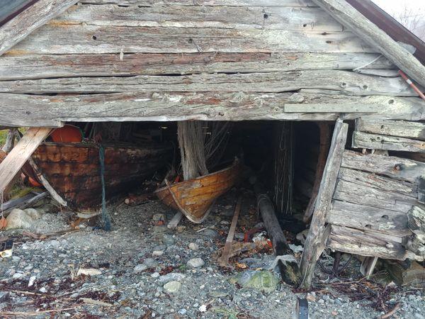 Old Norwegian boat house.