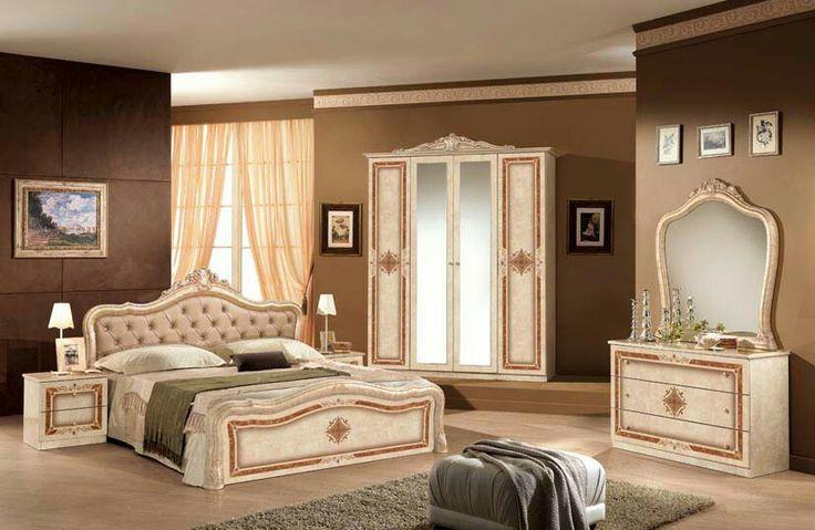 Italienisches-Schlafzimmer-Rokko-Luxus-6-tlg-Bett-komplett-Barock - schlafzimmer massiv komplett