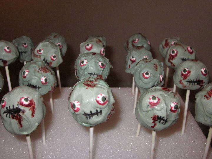 Definitely making these for my work Halloween Party! Love the Zombies!