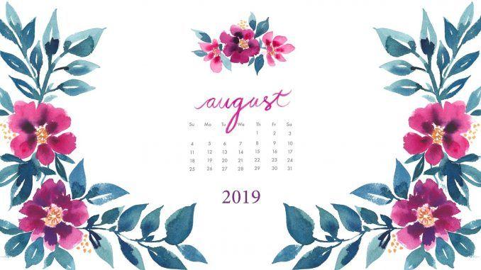 August 2019 Desktop Calendar Wallpaper 2 Desktop Wallpaper Calendar Calendar Wallpaper Free Wallpaper Desktop