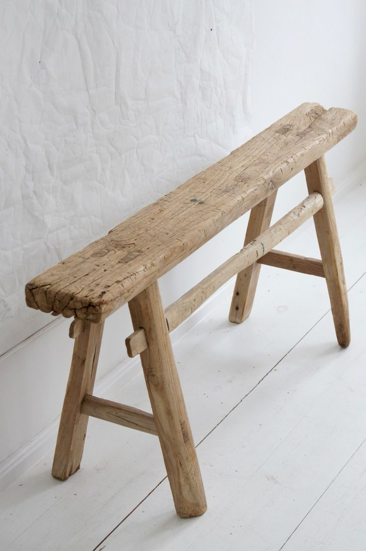 Alte Holzbank Aus Naturholz Bench Made Of Antique Wood From