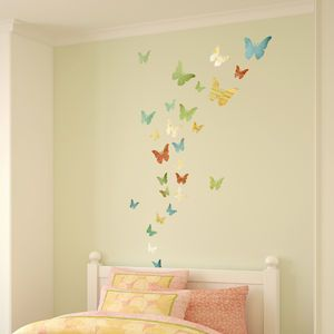 Patterned Butterfly Wall Stickers - decorative accessories