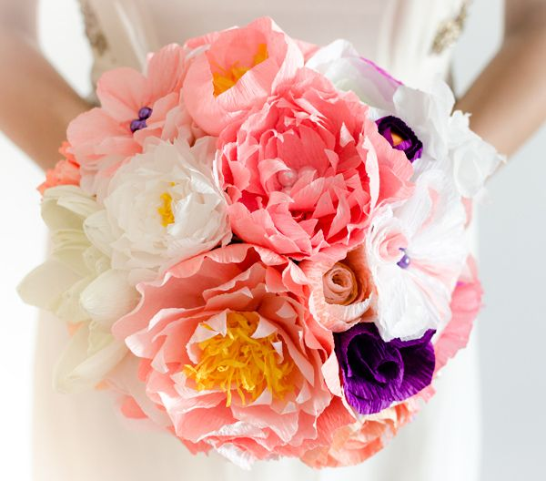 Product ID: BC0021We custom make colorful paper flower bouquets.Paper flower bouquets are very suitable for religious or civil ceremony. Keep forever the memory of the most beautiful moment of your life!All our products are handmade.This bouquet can be done in medium or large size.For prices please send me an email with the product ID at hello@thediywedding.comImpress! Be unique! Be creative!We believe we can help you have the most amazing wedding! Call us!