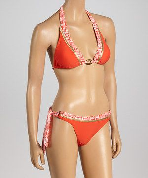 Another great find on #zulily! Envya Swimwear Orange Triangle Bikini - Women by Envya Swimwear #zulilyfinds