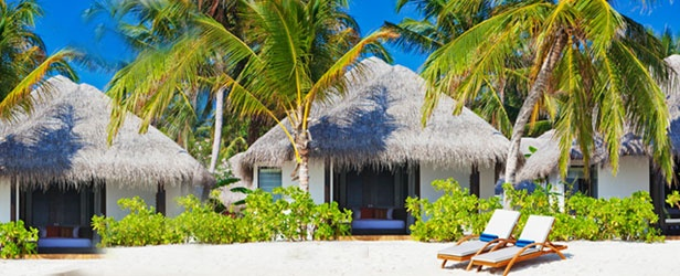 Velassaru Maldives island resort. Stay in a luxury Maldives water bungalow and savor the beauty of the island Lassaru Maldives island resort.