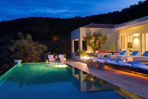 Villa Eudokia Greece holiday home stunning Mediterranean view swimming pool