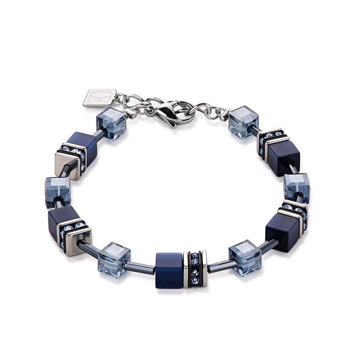 Coeur De Lion Geo Cube Blissful Blue Bracelet 4322/30/0722