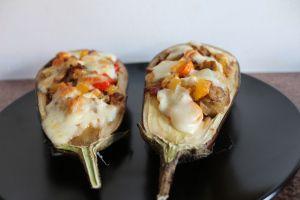Stuffed eggplant recipe. Vegetarian!