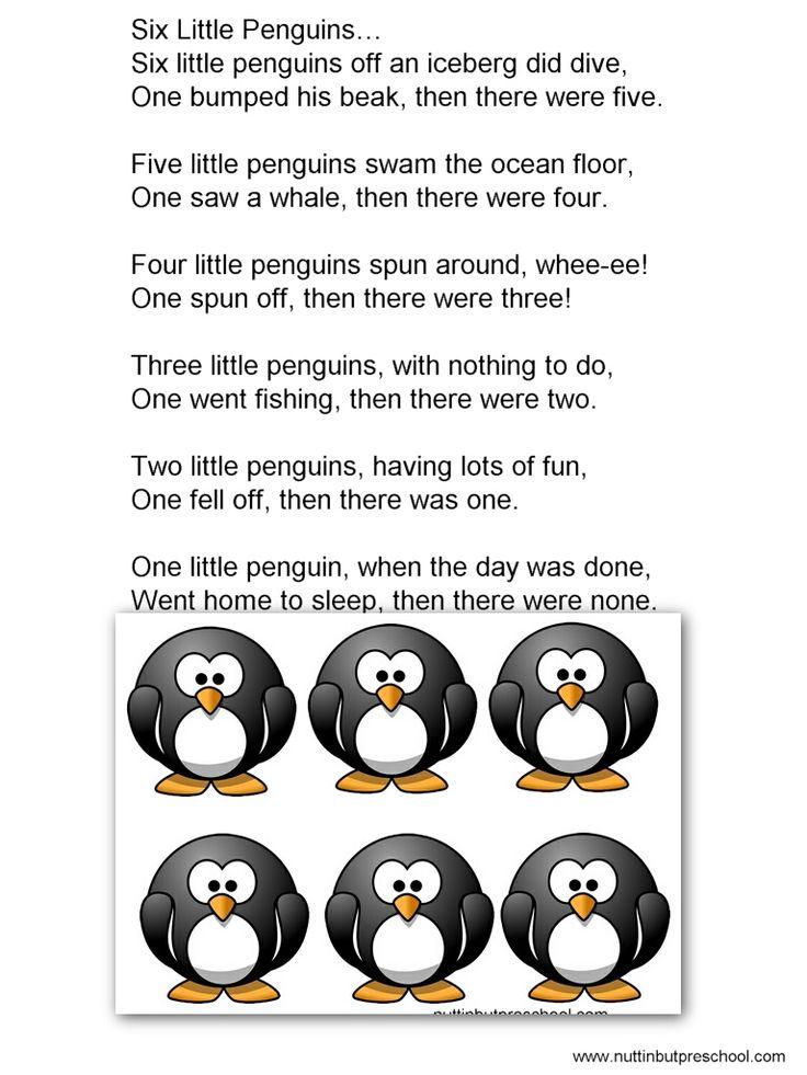felt board patterns   Six Little Penguins Flannel Board Nuttin' But Preschool