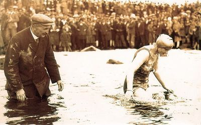 Pioneer swimmer and International Marathon Swimming Hall of Fame Honour Swimmer Mercedes Gleitze; In 1927, the relentless Londoner became the first English woman to swim the English Channel, on her eighth attempt.