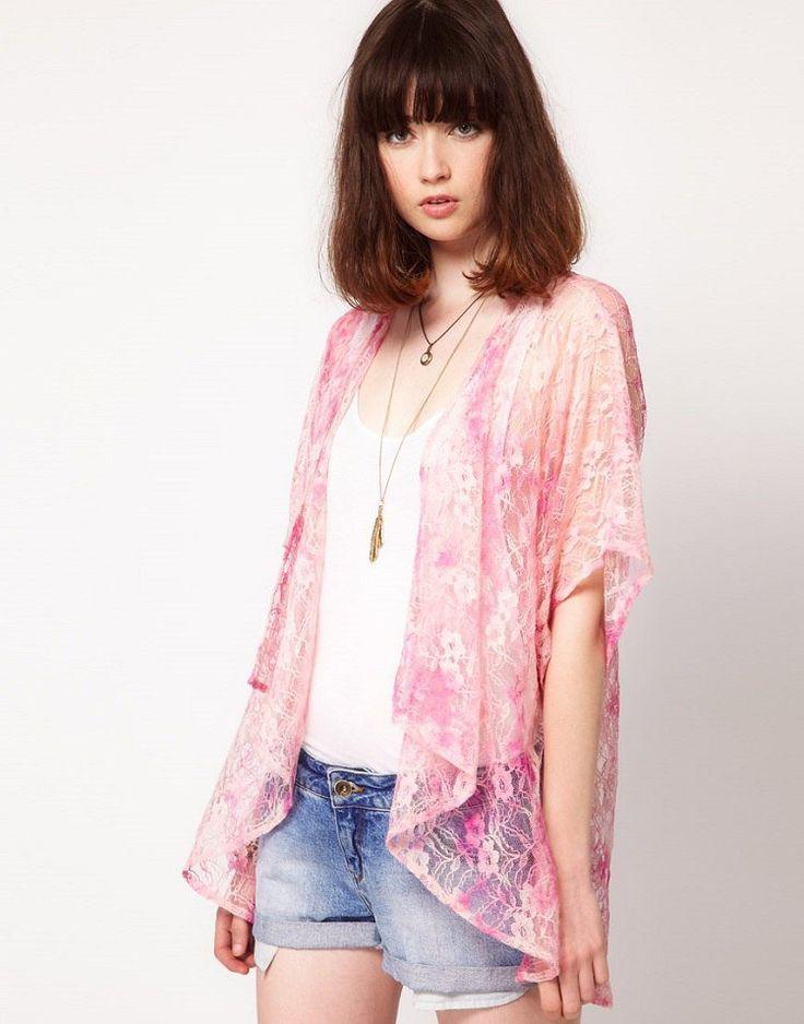comment se faire une veste kimono en tissu semi-transparent