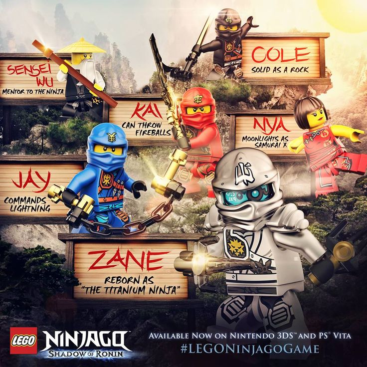 196 best Ninja Team images on Pinterest Lego ninjago, Lego ninjago - copy lego ninjago shadow of ronin coloring pages