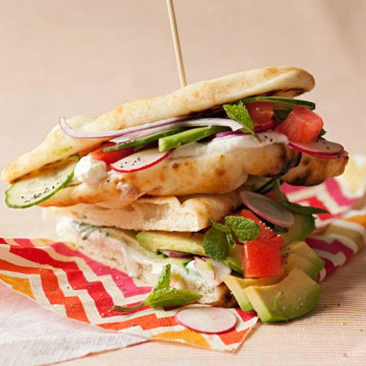 Veggie Flatbread Sandwiches - Rachael Ray Every Day
