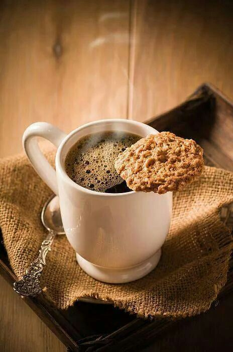 Un pur moment de cocooning : un café et son biscuit à la cannelle #sucrelaperruche