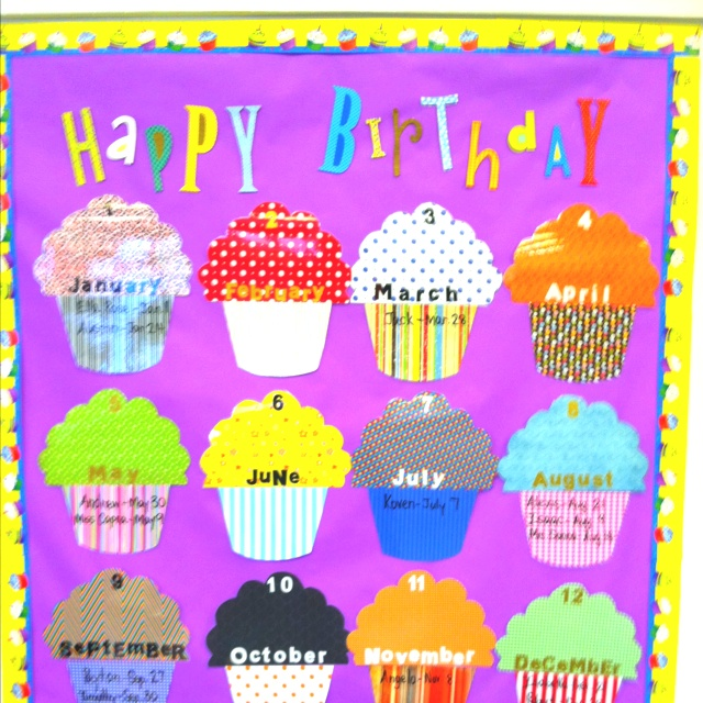 10+ Images About Classroom Birthday Board Ideas On Pinterest