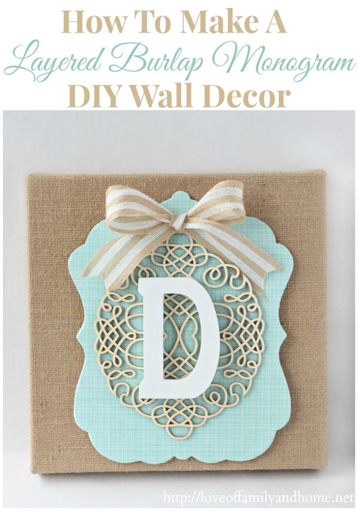 Monogrammed Wall Decor 25+ best burlap monogram ideas on pinterest | monogram wall
