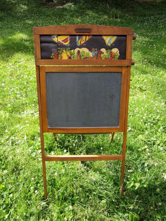 Antique FoldUp Slate Chalk Board By LadyNinaNana On Etsy, $125.00
