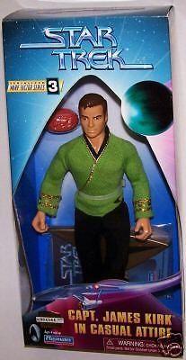Star Trek Figure Capt James Kirk Casual Outfit NIB #PlaymatesToys