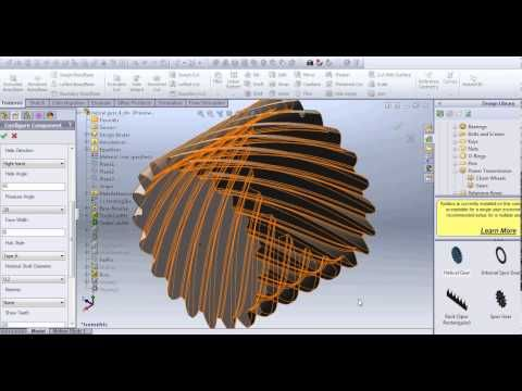 How to make helical Gear using toolbox Solidworks
