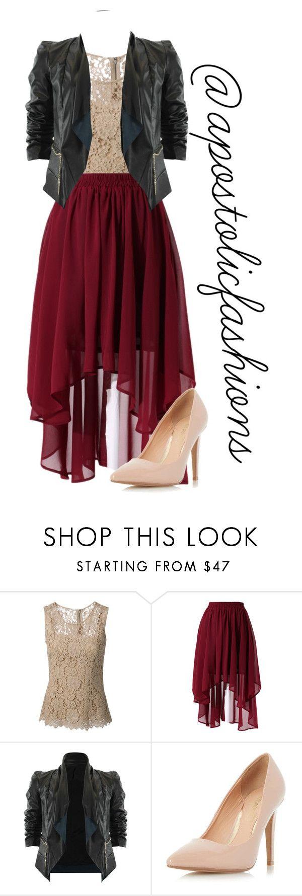Apostolic Fashions #1370 by apostolicfashions on Polyvore featuring moda, Dolce&Gabbana, Chicwish, Dorothy Perkins, modestlykay and modestlywhit