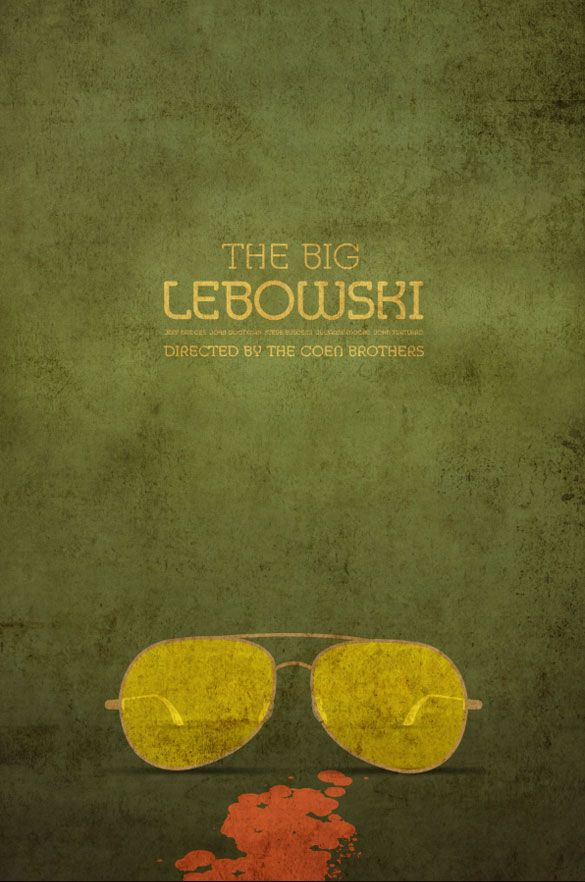 Walter ~ The Big Lebowski (1998) ~ Minimal Movie Poster by Ibraheem Youssef