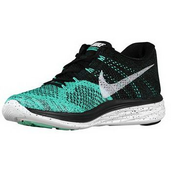 7d08ee6e05951 Low Price Nike Flyknit Lunar 3 Black Atomic Teal Barely Green Green Glow  Sneaker