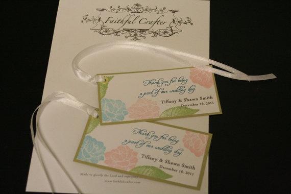 Destination Wedding Favor Tags Hawaii Aqua & by FaithfulCrafter, USD0.75 ...