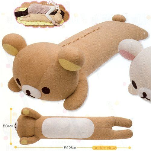 Animal Shaped Body Pillows : 17 Best images about Rilakkuma DIY on Pinterest Kawaii shop, Tutorials and Pencil cases