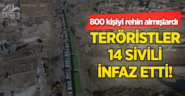 Halep'te rehin alınan 800 kişiden 14'üne infaz!