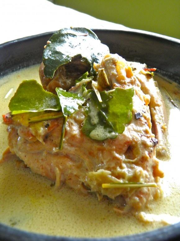Indonesian Food. Opor Ayam Masakan Orang Jawa  ( Javanese Chicken Opor )