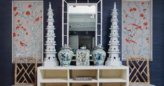 Check out all this Chinoiserie loveliness from Bungalow 5. I especially love the large pagodas - they are 4 feet tall. Have you ever trie...