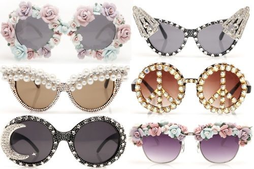 Wacky Sun glasses reblogged from the Betsey  Johnson tumblr