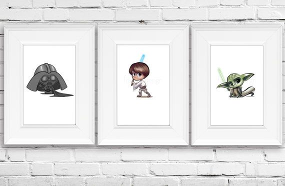 Star Wars Personalized Baby Darth Vader Star Wars by FramedDesign