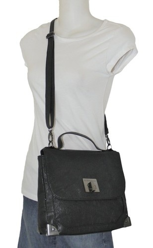 New BCBG BCBGeneration Black Top Handle Small Tote Crossbody Bag | eBay