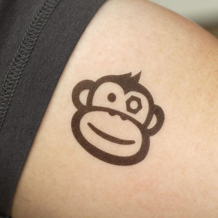 Best 25 monkey tattoos ideas on pinterest for Monkey face tattoo
