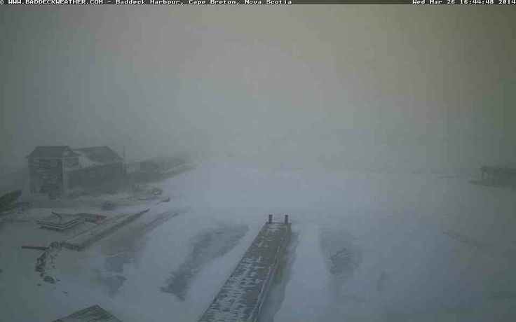 Another snap from the #Baddeck web cam here in #CapeBreton at 4:43 pm. #altstorm #CBRM
