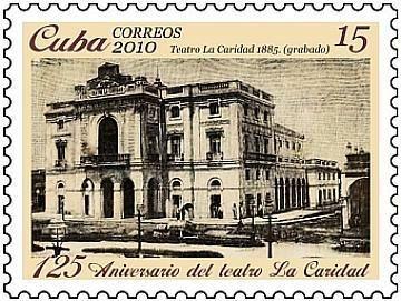 Cuba. La estampilla refleja la fachada de «La Caridad».