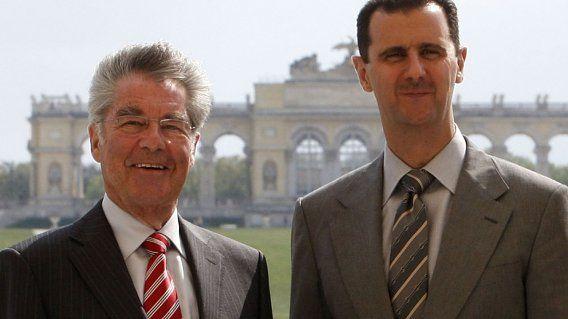Bundespräsident Heinz Fischer hat kühl auf das kürzlich von Syriens Präsident Bashar al-Assad geäußerte Lob für Österreich reagiert.