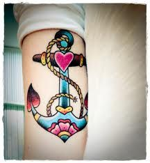 My all time favorite Sailor Jerry type girly anchor.