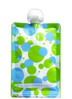 Resuable Food Pouches! Saves a lot of money if you have time to fill them!   10 Pack | Blue & Green Polka Dot | Nourish Reusable Food Pouch – Nourish | 5 oz. Reusable Food Pouch for Babies & Kids
