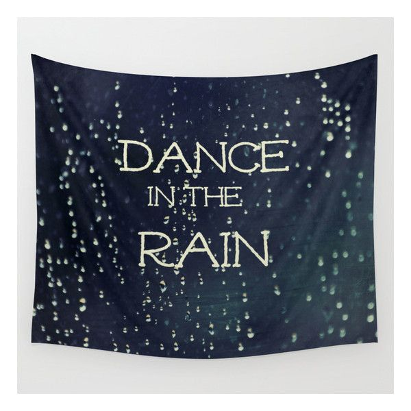 """Dance In The Rain Small: 51"""" X 60"""" Wall Tapestry by Caleb Troy. Photography, Typography, Love, Nature. Available in three distinct sizes, our Wall Tapestries a…"""