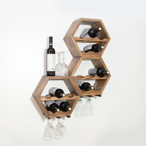 Honeycomb Wine Rack Mid Century Modern Kitchen by HaaseHandcraft