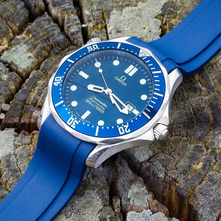 Zealande Curved End Rubber Watch Strap In Blue In 2019