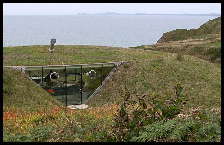 An Eco house that becomes part of the landscape. Malator, Druidstone, Pembrokeshire, South West Wales, United Kingdom.
