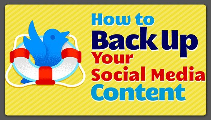 Backing up your #SocialMedia Content