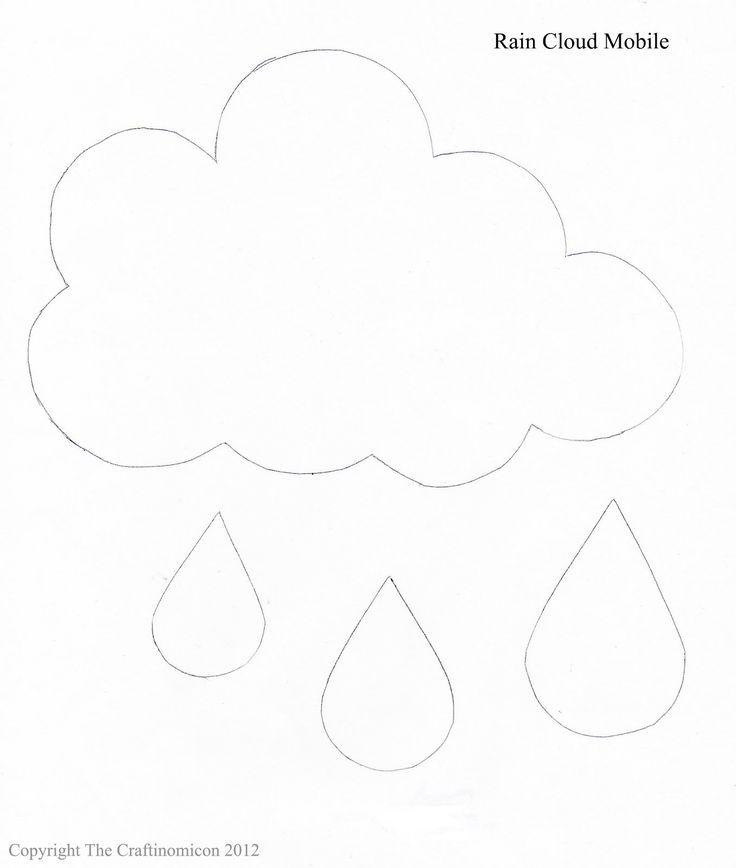 Wolke mit Regentropfen