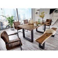 Esszimmer Sitzgruppe Escoba im Loft Design mit Baumkante (6-teilig)