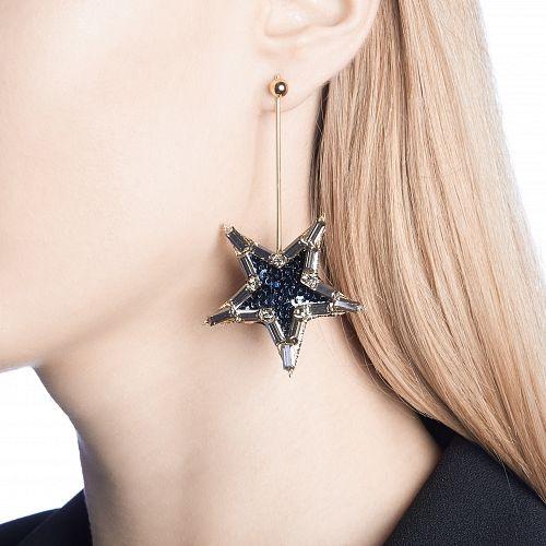 Синие серьги со звездами 5900р