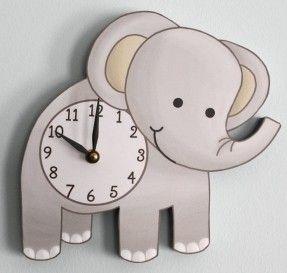 elephant-wooden-wall-clock-for-kids-bedroom-baby-nursery-on-etsy-45-00-babylist-baby-registry.jpg (287×273)